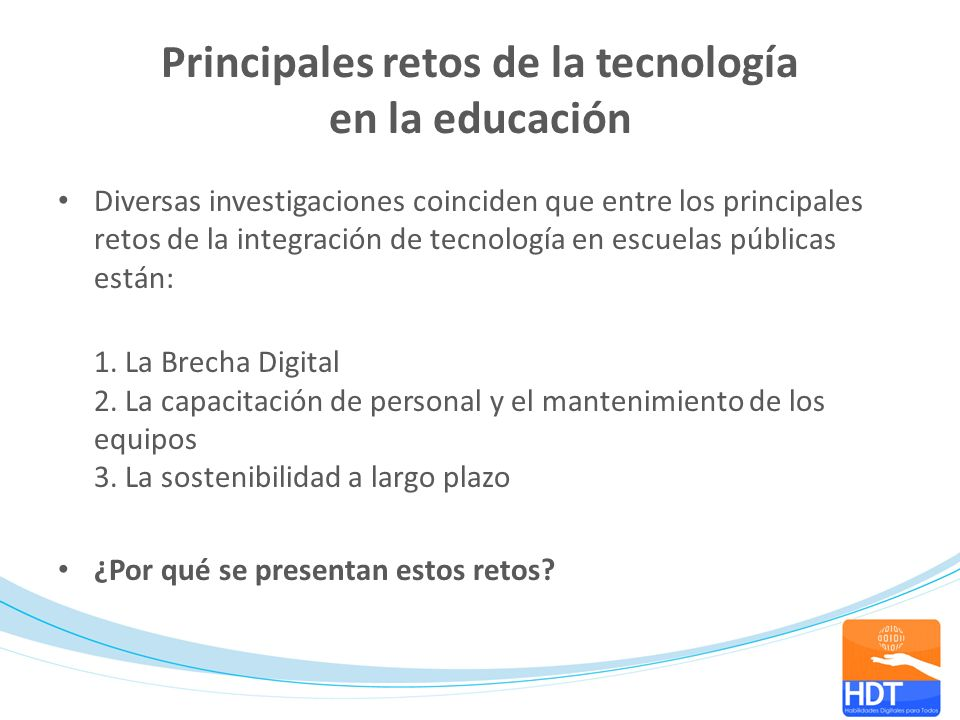 Principales retos de la tecnología en la educación