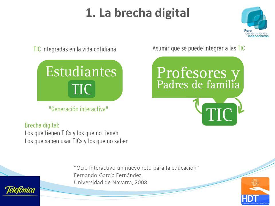 1. La brecha digital Ocio Interactivo un nuevo reto para la educación Fernando García Fernández.