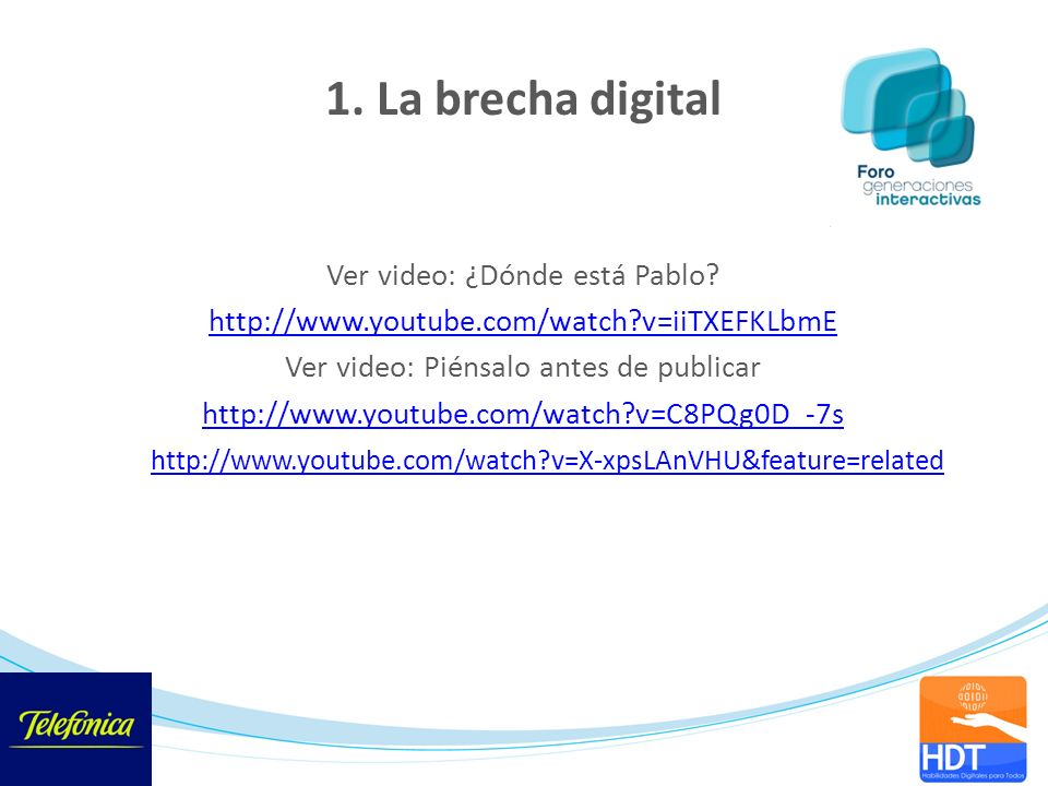 1. La brecha digital