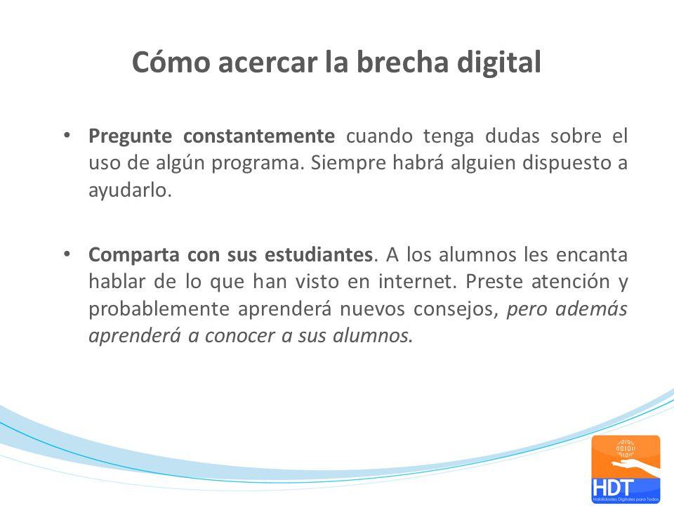 Cómo acercar la brecha digital