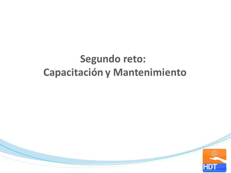 Segundo reto: Capacitación y Mantenimiento