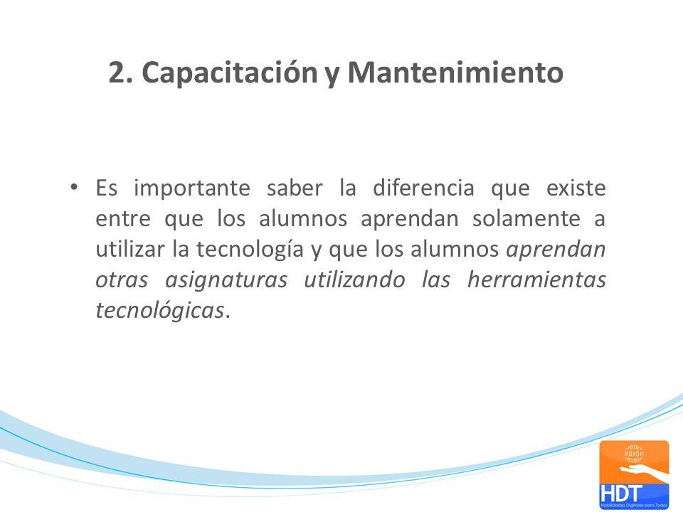 2. Capacitación y Mantenimiento