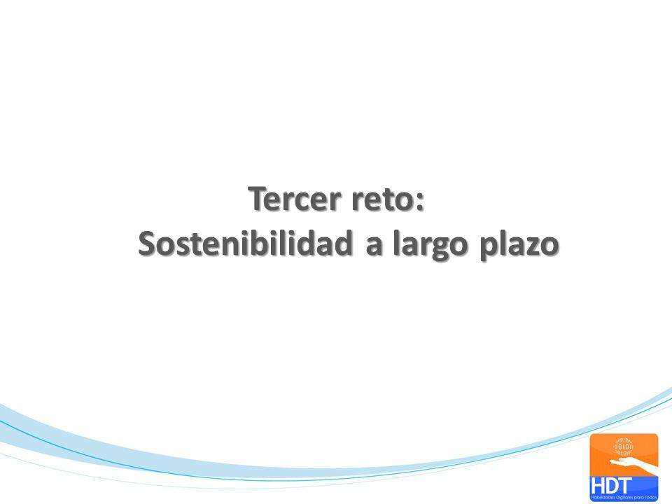 Tercer reto: Sostenibilidad a largo plazo