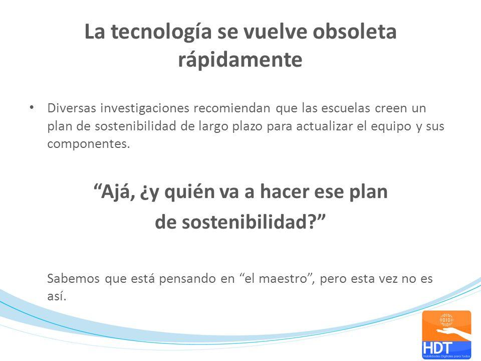 La tecnología se vuelve obsoleta rápidamente