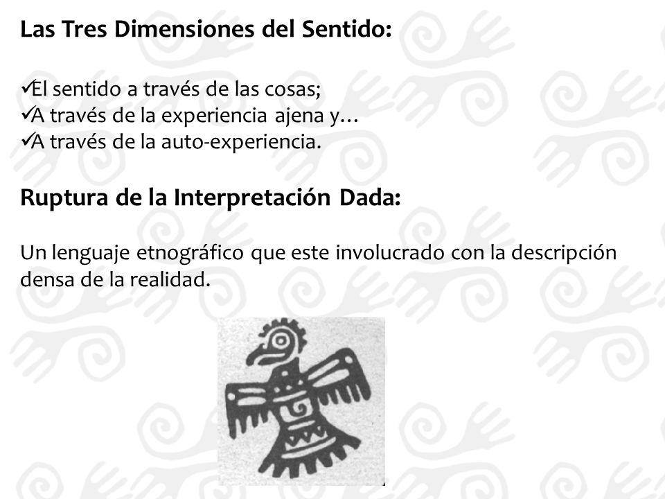Las Tres Dimensiones del Sentido: