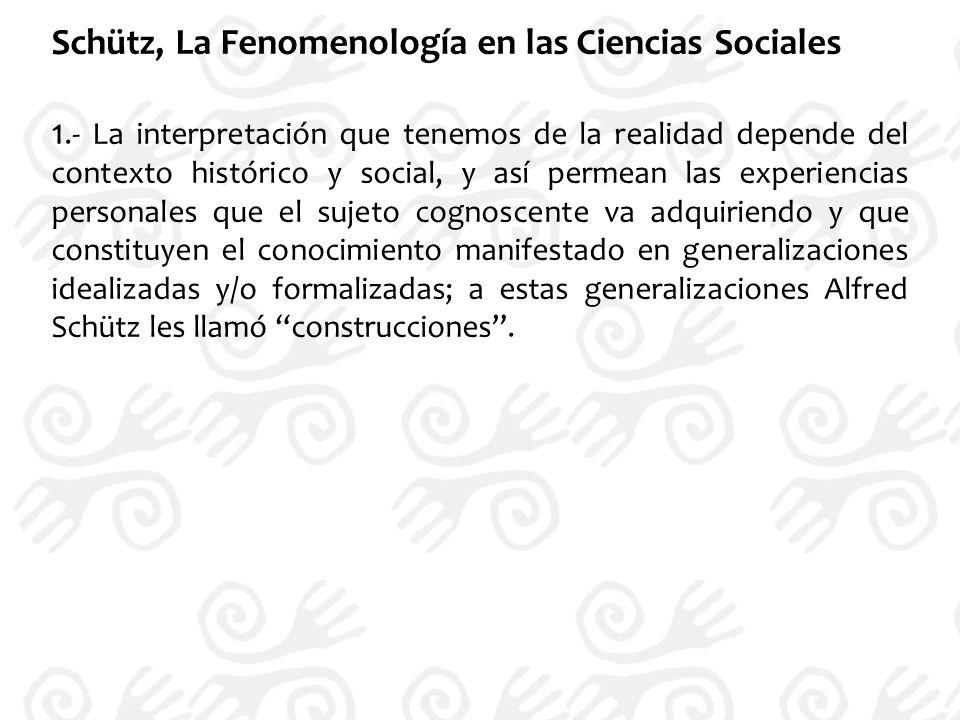 Schütz, La Fenomenología en las Ciencias Sociales
