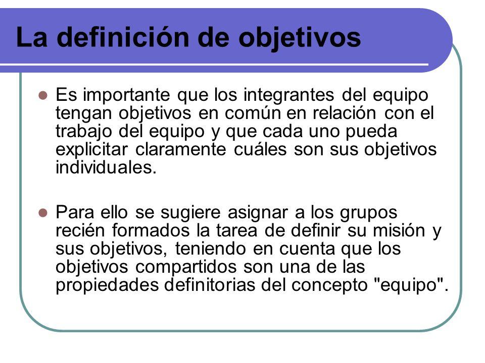 La definición de objetivos