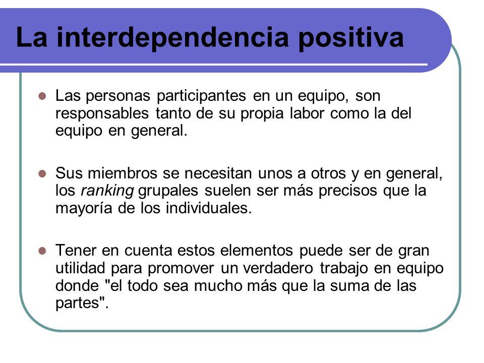 La interdependencia positiva