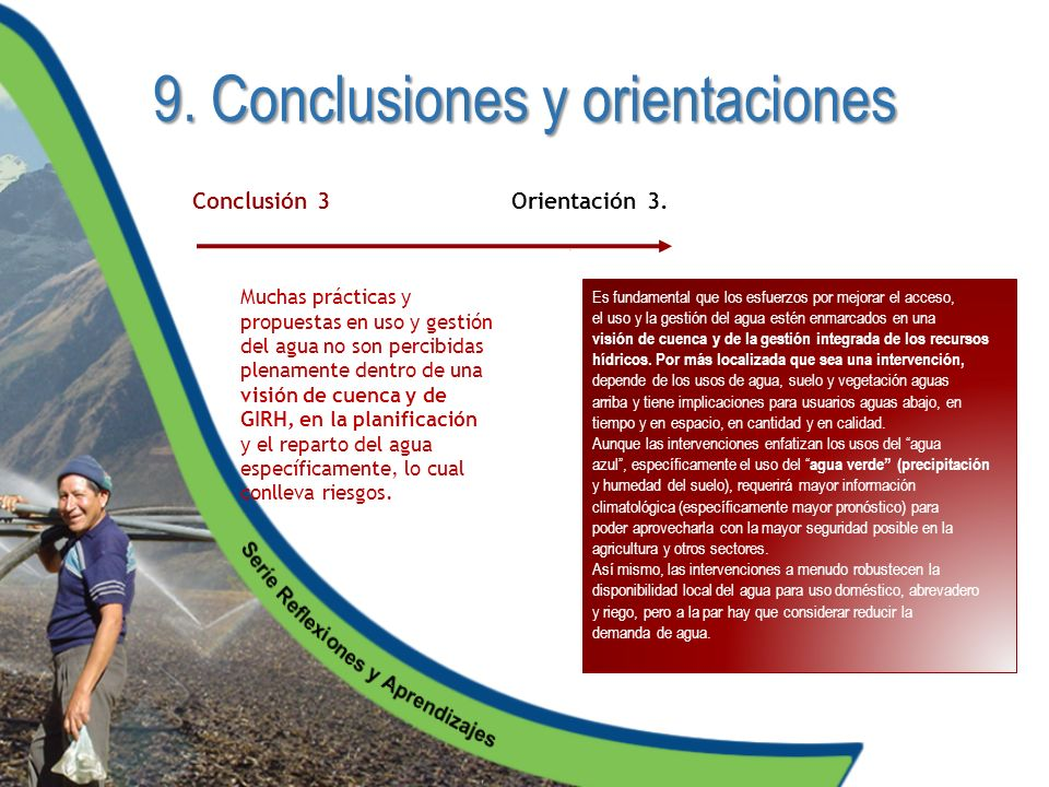 9. Conclusiones y orientaciones