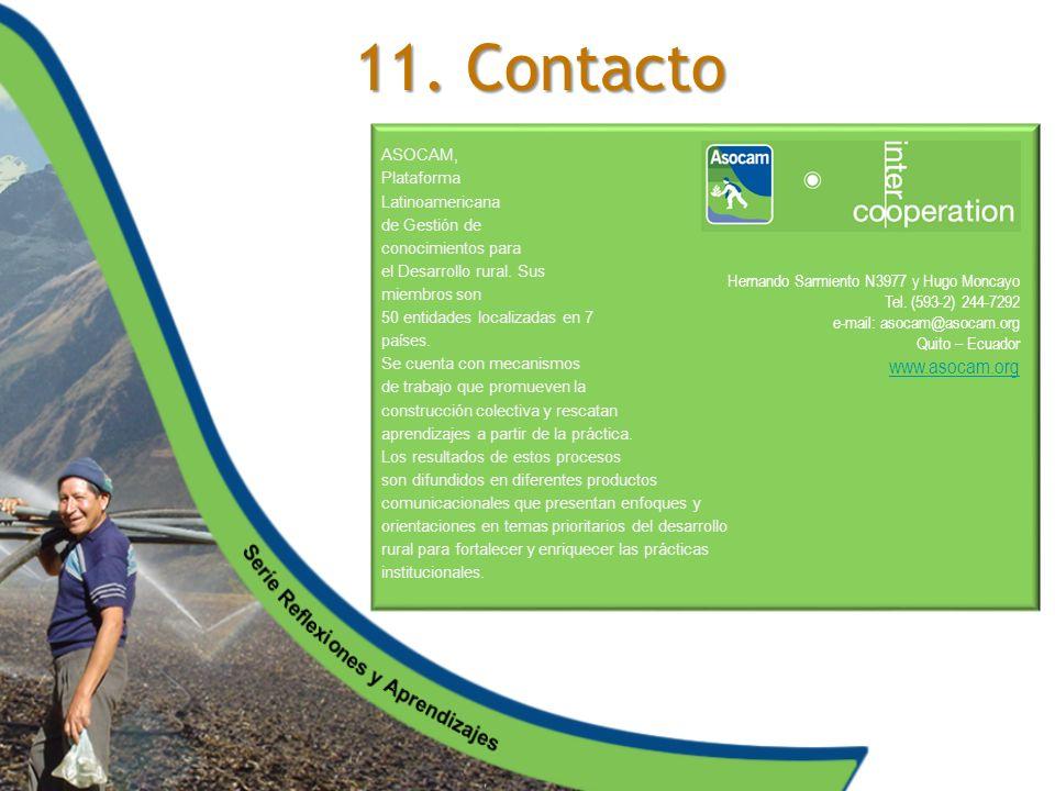 11. Contacto www.asocam.org Hernando Sarmiento N3977 y Hugo Moncayo