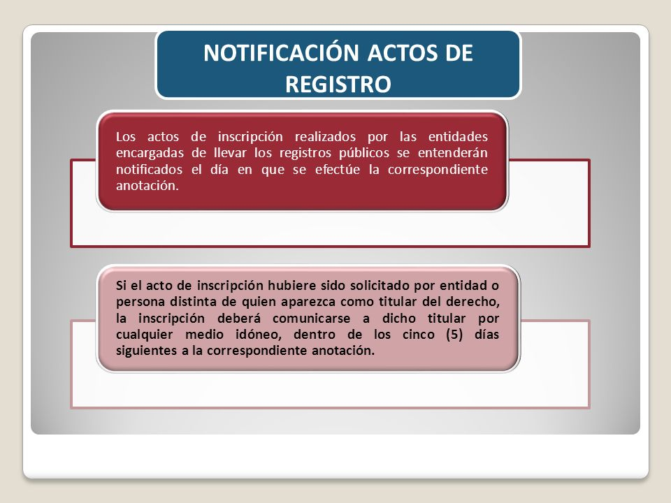 NOTIFICACIÓN ACTOS DE REGISTRO