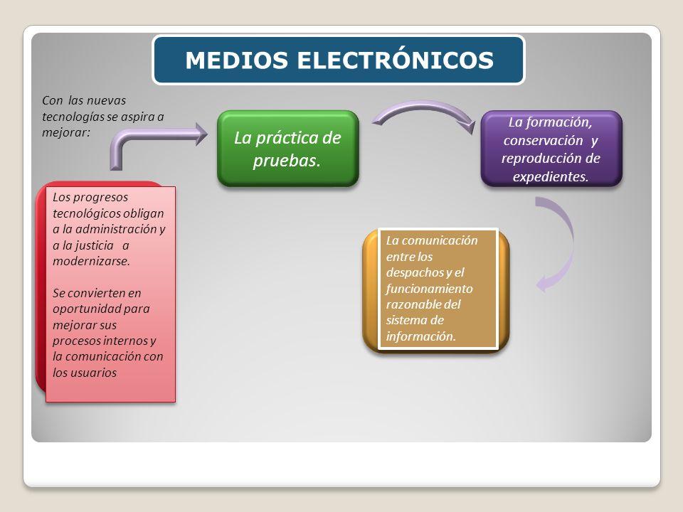 La formación, conservación y reproducción de expedientes.