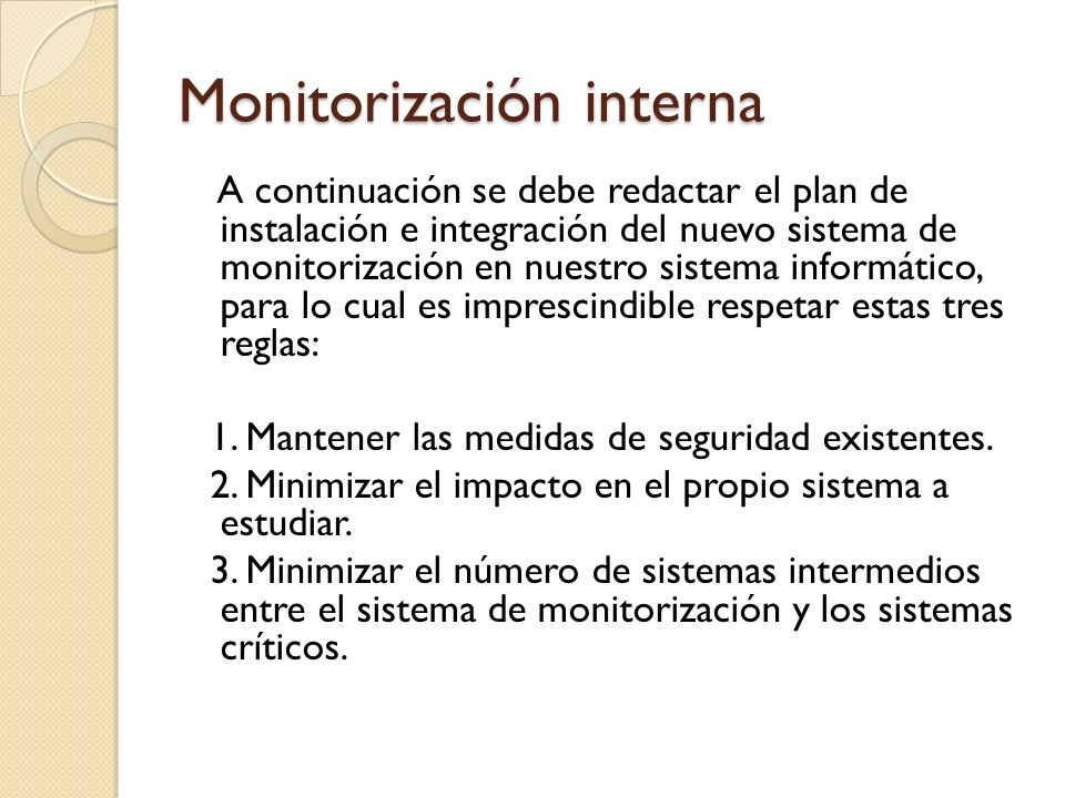 Monitorización interna