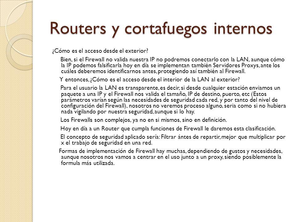 Routers y cortafuegos internos