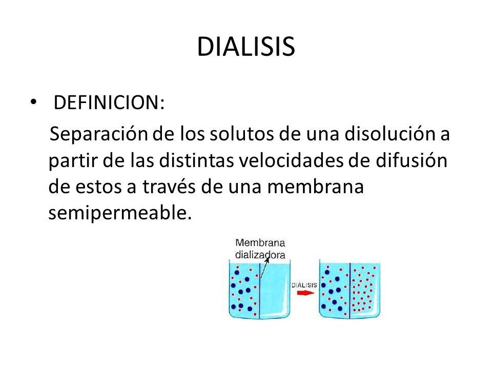 DIALISIS DEFINICION: