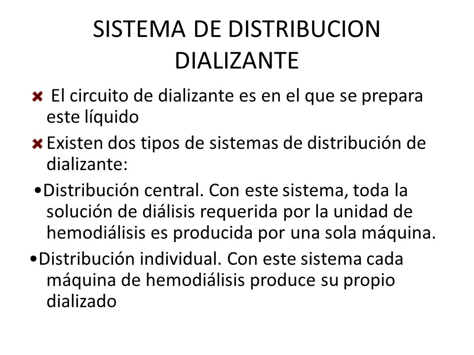 SISTEMA DE DISTRIBUCION DIALIZANTE