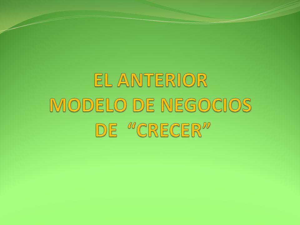 EL ANTERIOR MODELO DE NEGOCIOS DE CRECER
