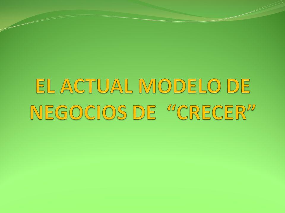 EL ACTUAL MODELO DE NEGOCIOS DE CRECER