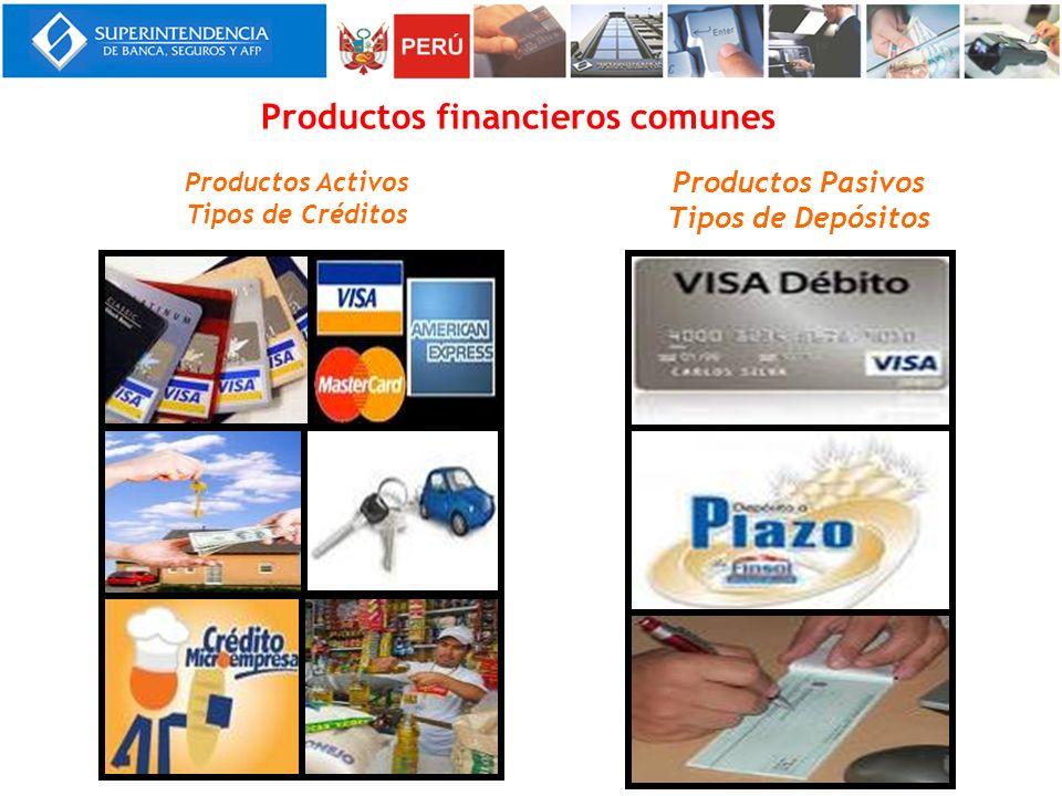Productos financieros comunes