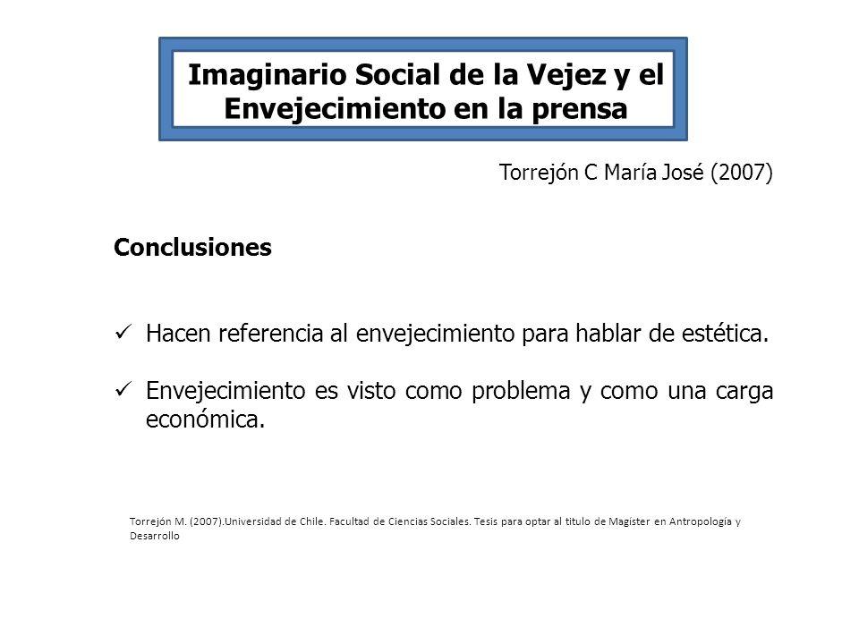 Imaginario Social de la Vejez y el Envejecimiento en la prensa