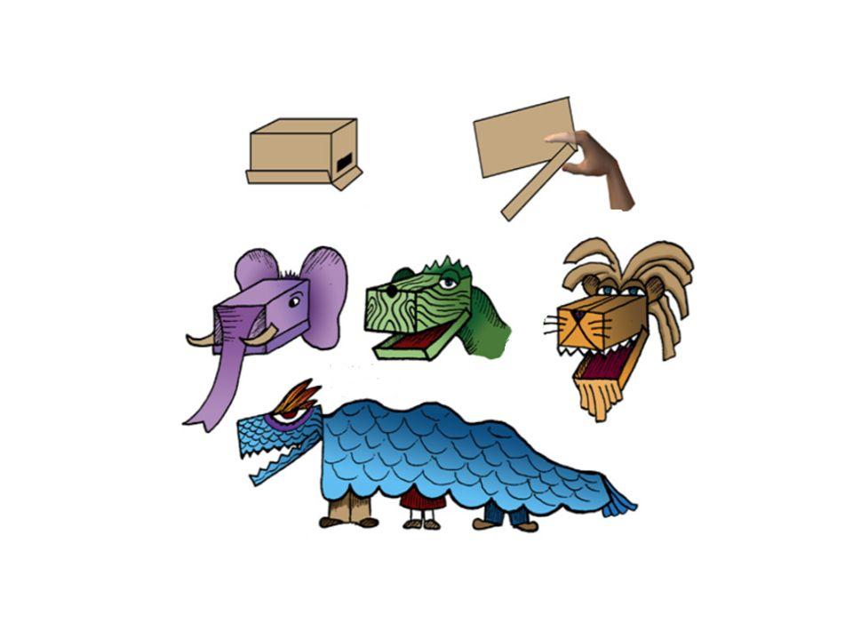 Títeres de cajas de cartón
