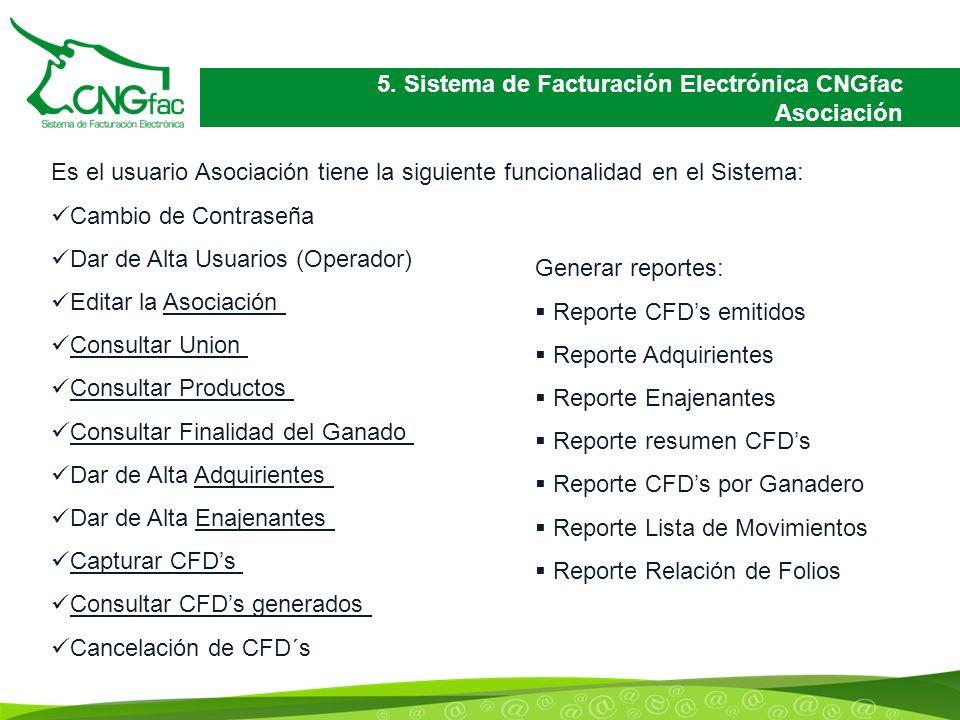 5. Sistema de Facturación Electrónica CNGfac Asociación