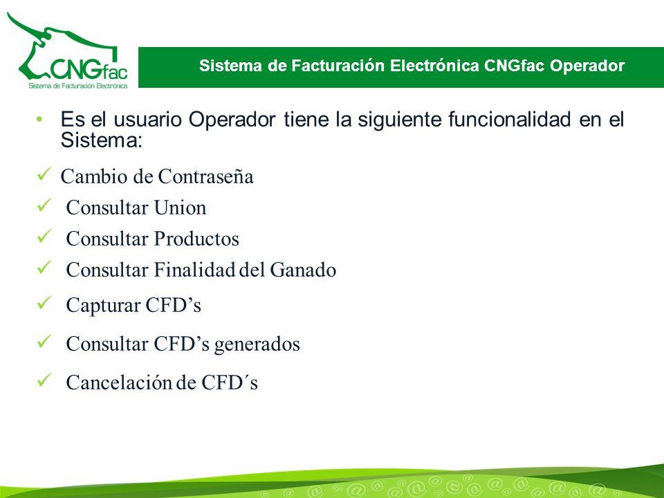 Sistema de Facturación Electrónica CNGfac Operador