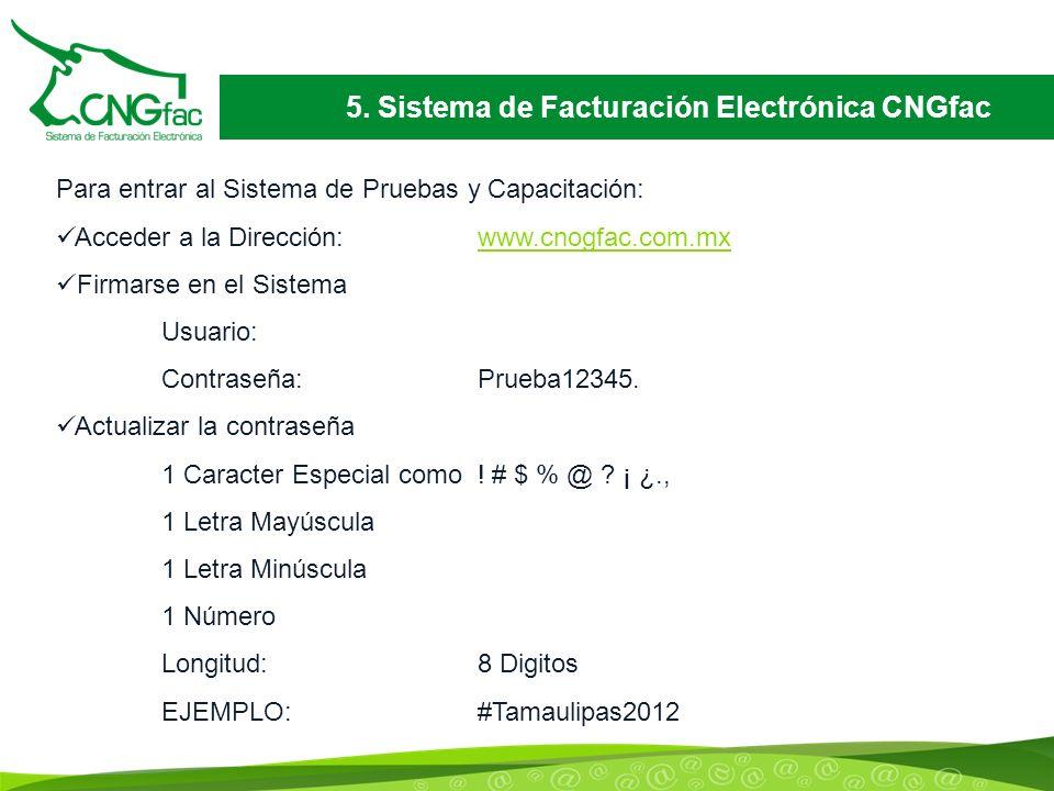 5. Sistema de Facturación Electrónica CNGfac