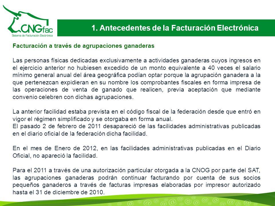 1. Antecedentes de la Facturación Electrónica