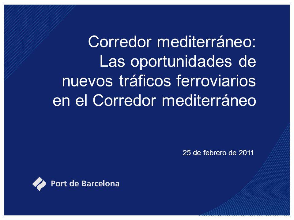 Corredor mediterráneo: Las oportunidades de nuevos tráficos ferroviarios en el Corredor mediterráneo