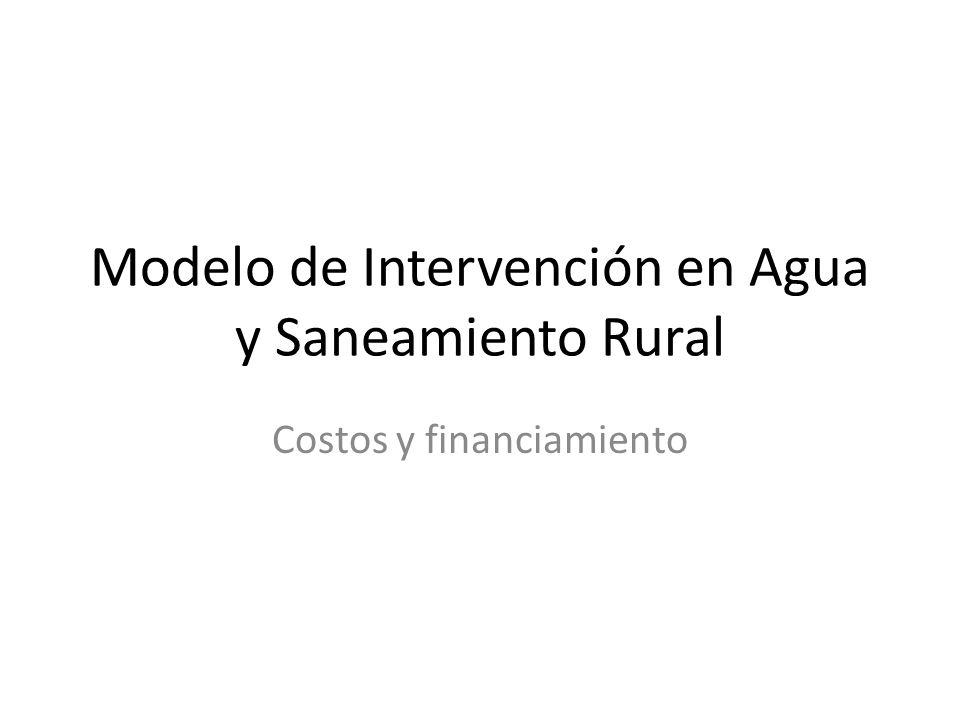 Modelo de Intervención en Agua y Saneamiento Rural