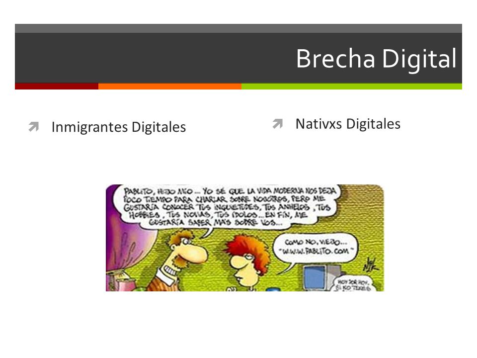 Brecha Digital Nativxs Digitales Inmigrantes Digitales