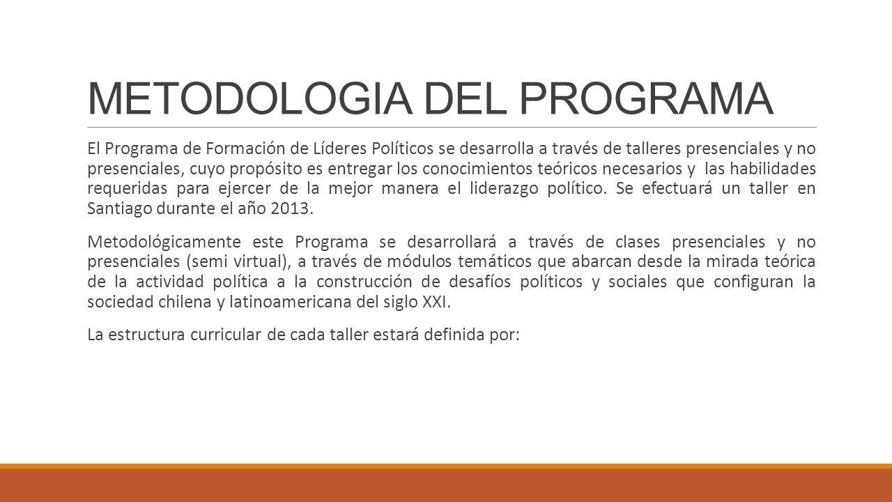 METODOLOGIA DEL PROGRAMA