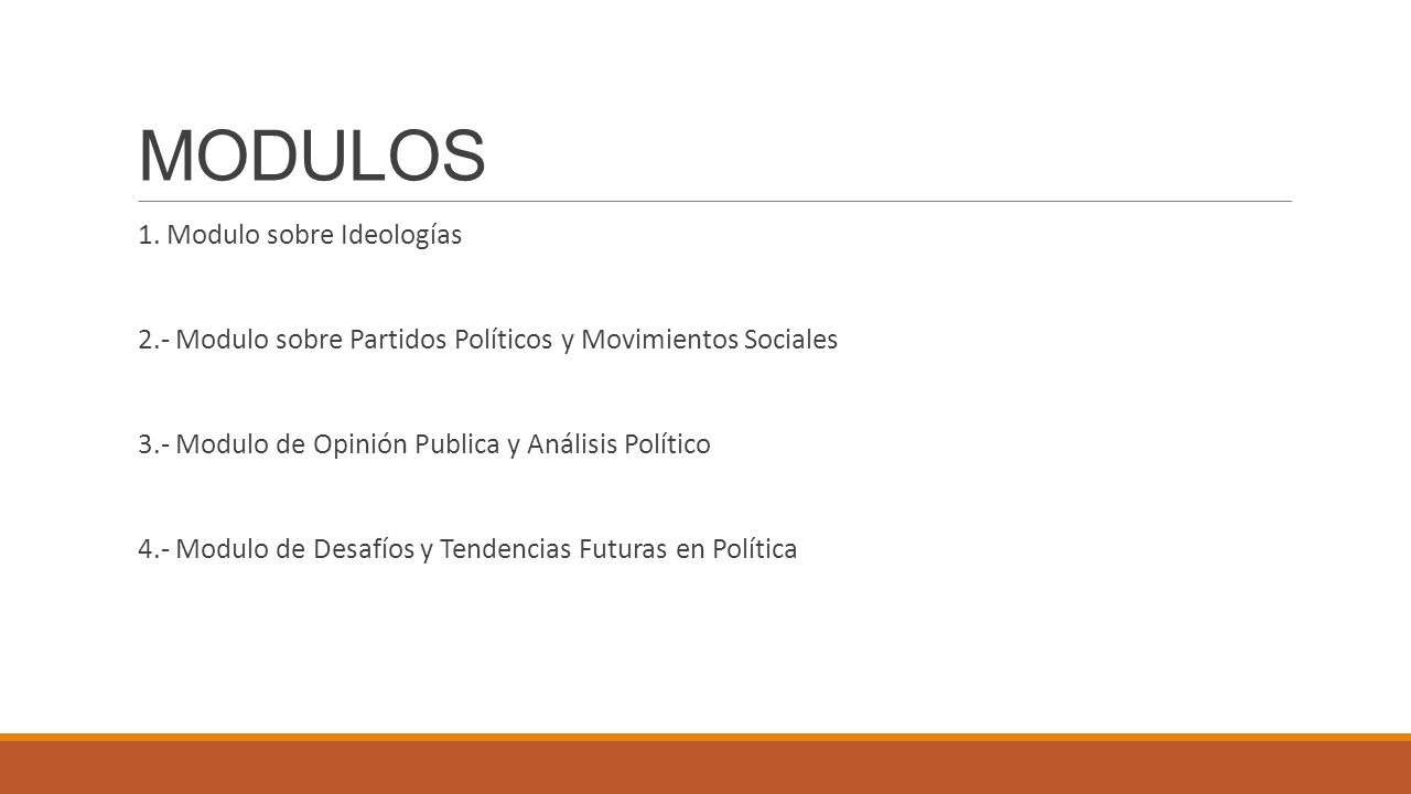 MODULOS 1. Modulo sobre Ideologías