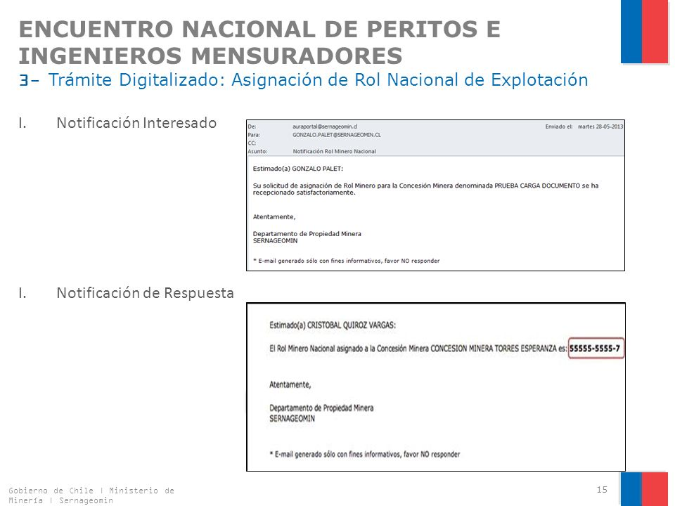 ENCUENTRO NACIONAL DE PERITOS E INGENIEROS MENSURADORES 3- Trámite Digitalizado: Asignación de Rol Nacional de Explotación