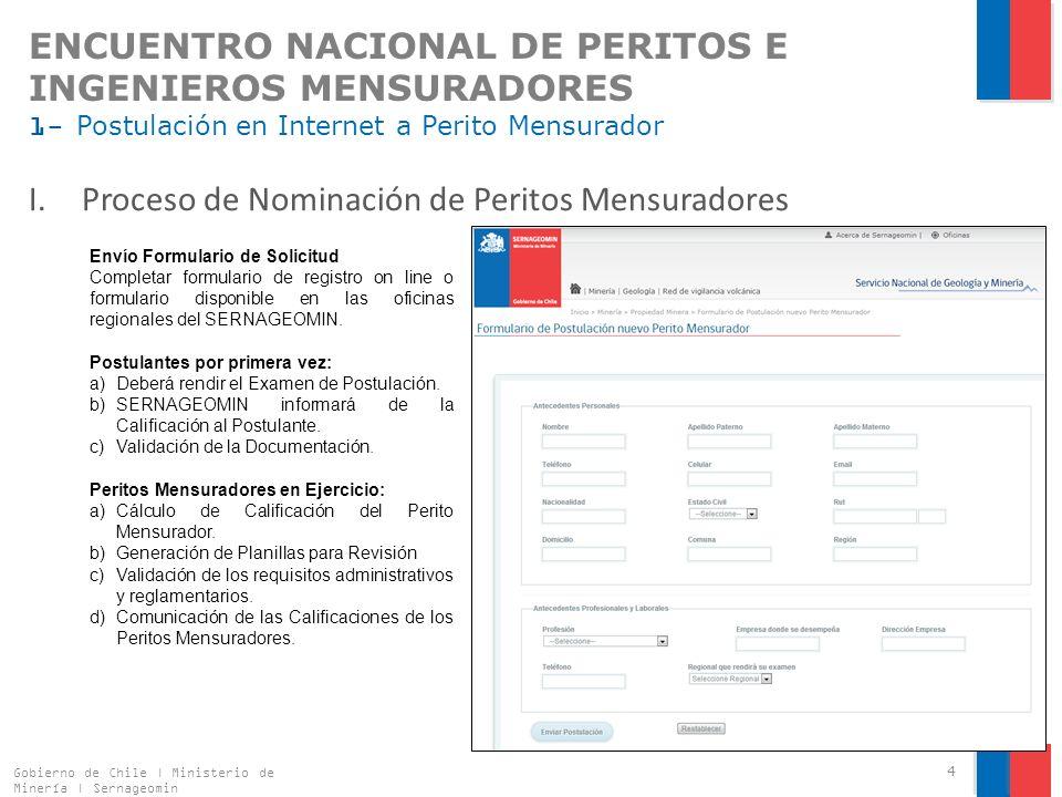 Proceso de Nominación de Peritos Mensuradores