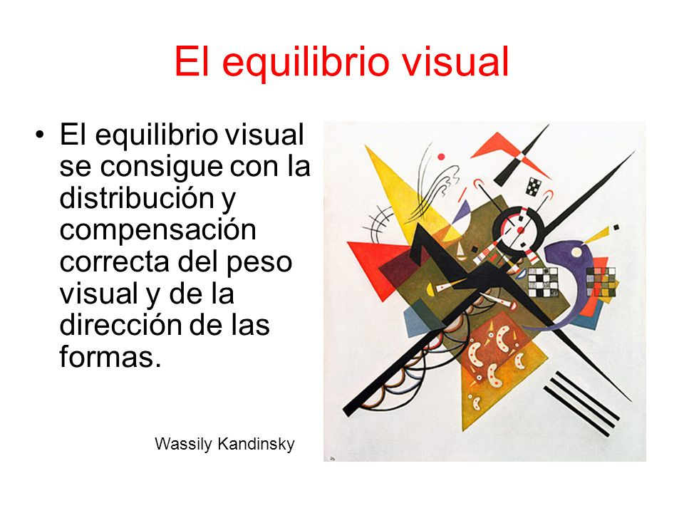 El equilibrio visual
