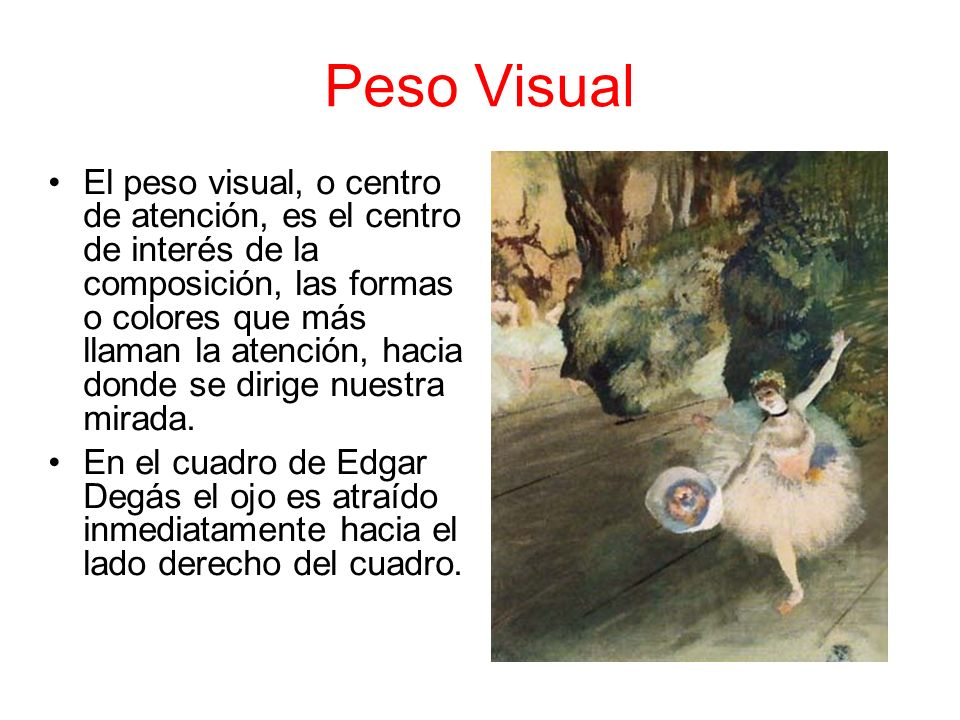 Peso Visual