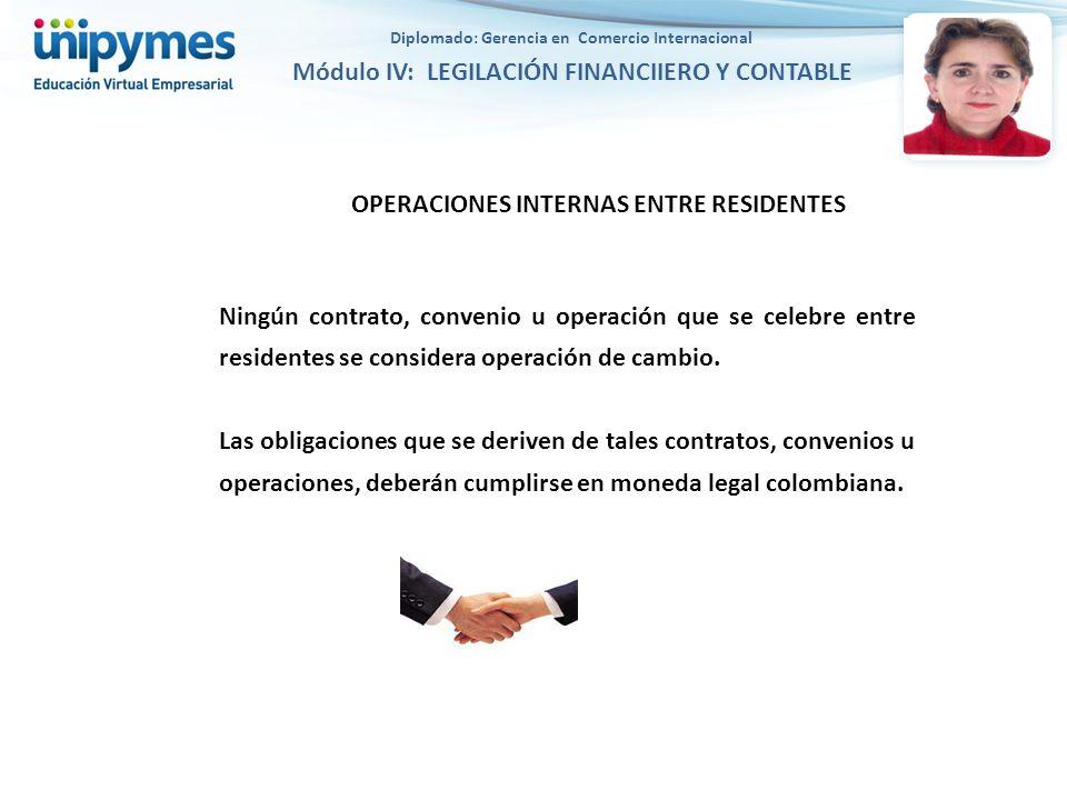 OPERACIONES INTERNAS ENTRE RESIDENTES