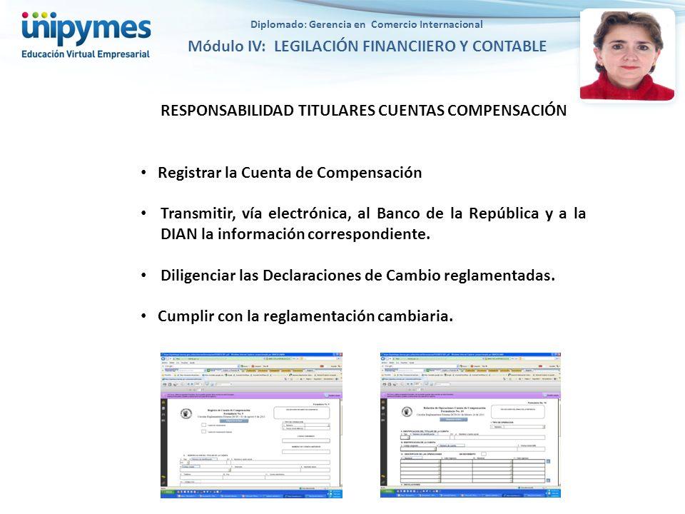 RESPONSABILIDAD TITULARES CUENTAS COMPENSACIÓN