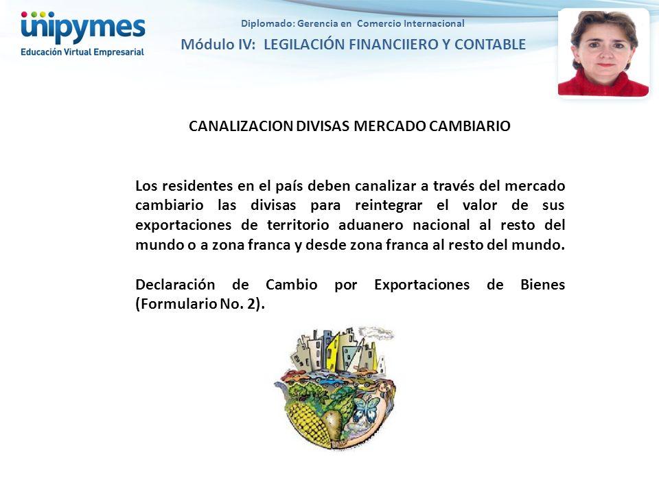 CANALIZACION DIVISAS MERCADO CAMBIARIO