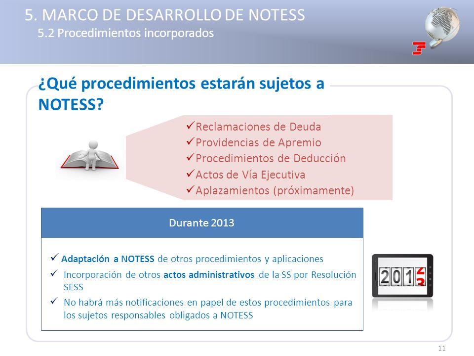 5. MARCO DE DESARROLLO DE NOTESS 5.2 Procedimientos incorporados