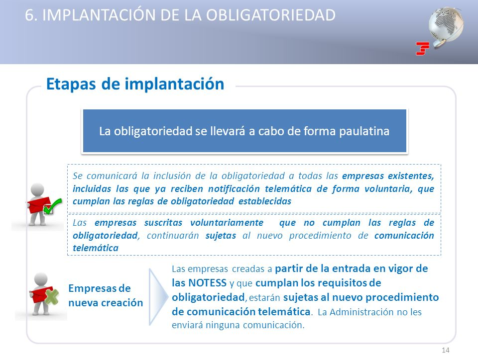 6. IMPLANTACIÓN DE LA OBLIGATORIEDAD