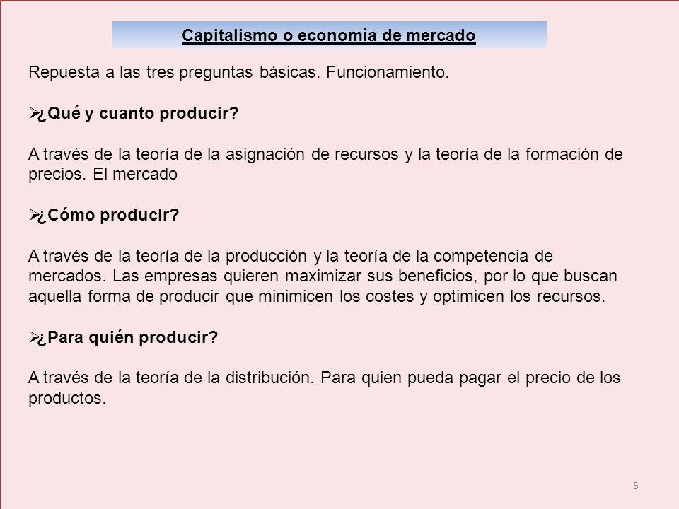 Capitalismo o economía de mercado