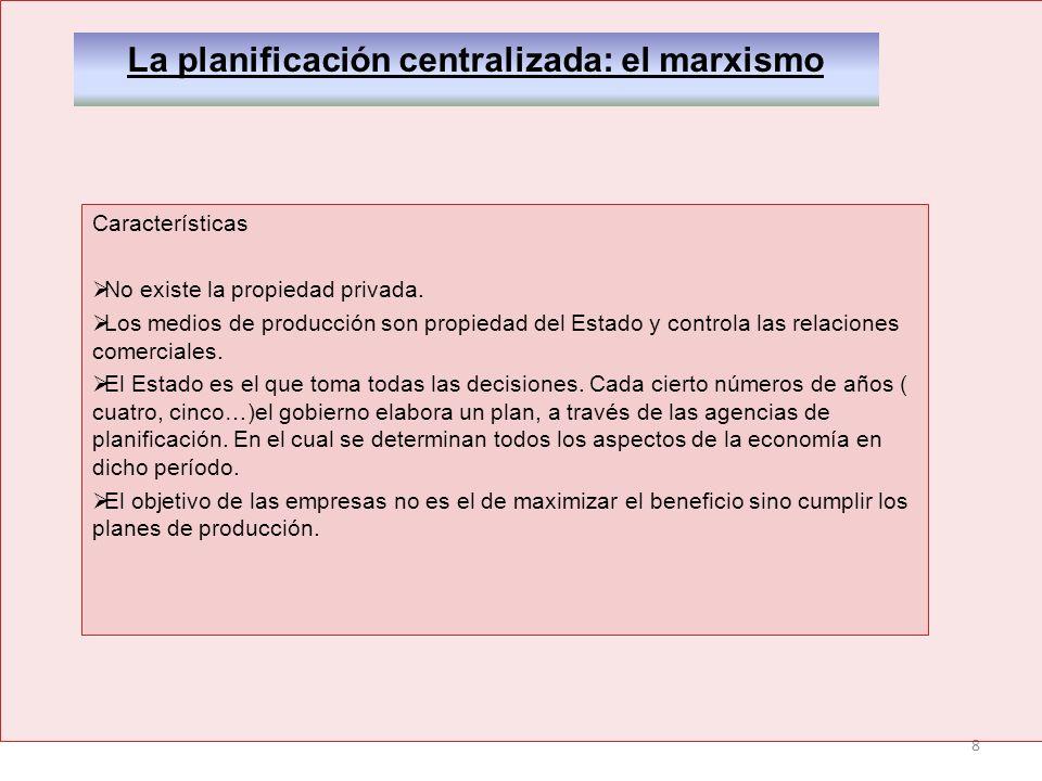 La planificación centralizada: el marxismo