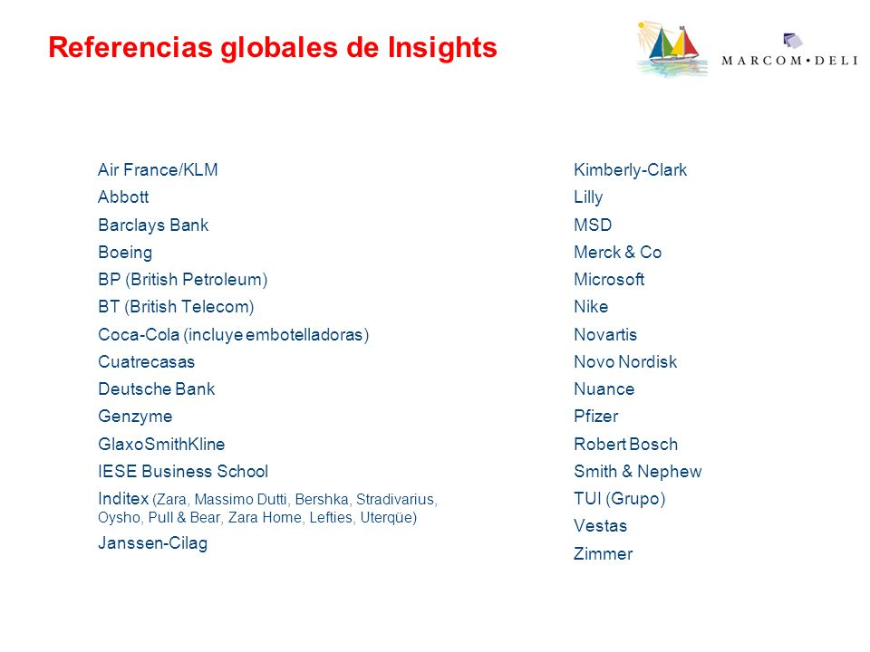 Referencias globales de Insights