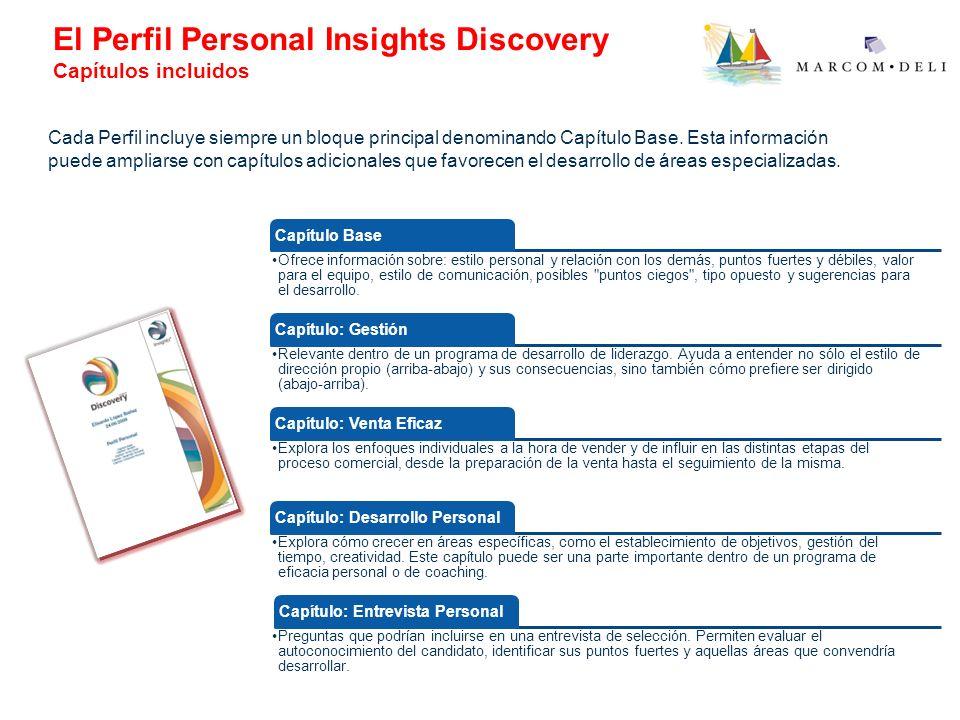 El Perfil Personal Insights Discovery Capítulos incluidos