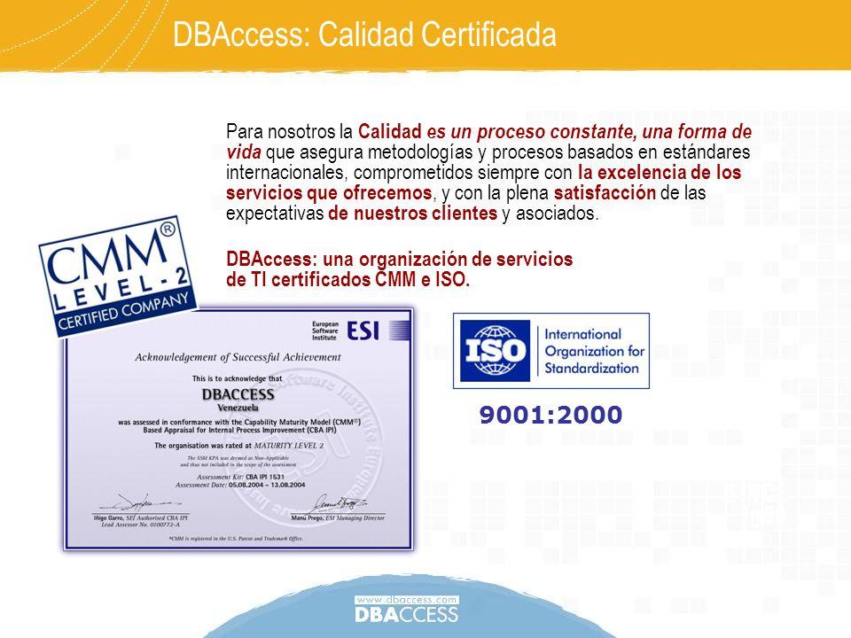 DBAccess: Calidad Certificada