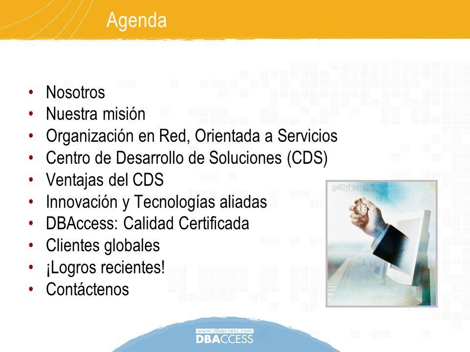 Agenda Nosotros Nuestra misión
