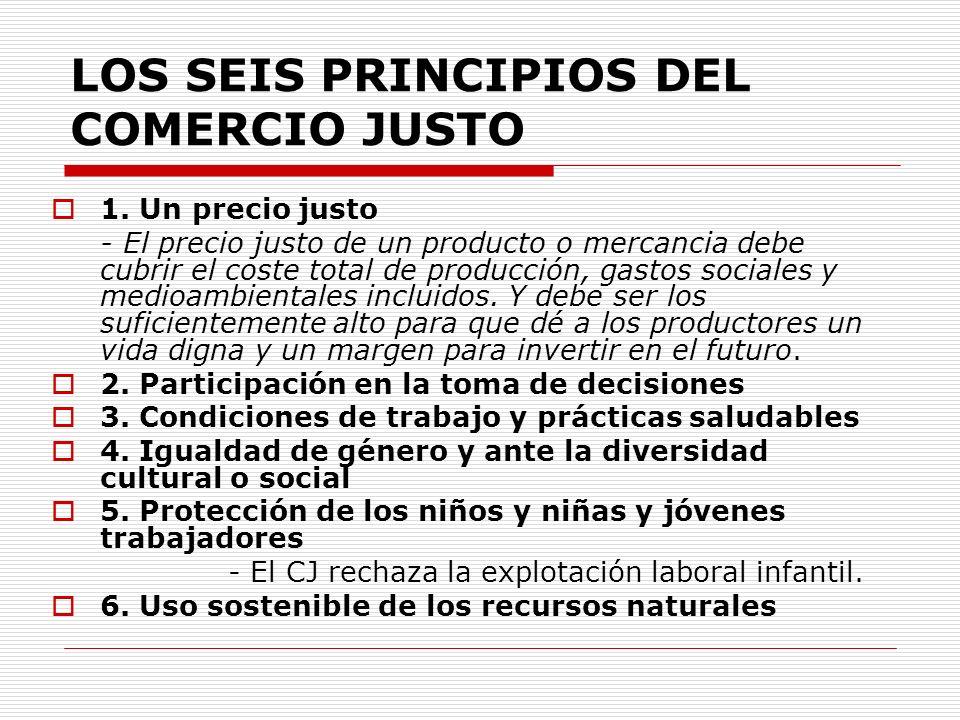 LOS SEIS PRINCIPIOS DEL COMERCIO JUSTO